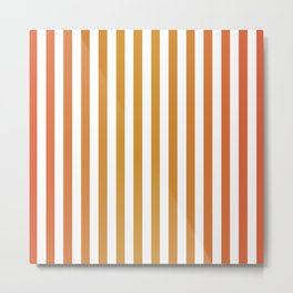 Stripes in Summer Soltice Metal Print