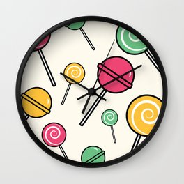 Lolli-lollipop Wall Clock