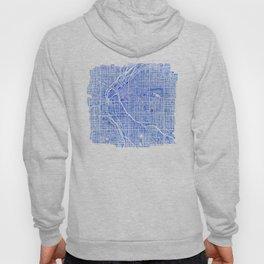 Denver Blueprint City Map Watercolor Hoody