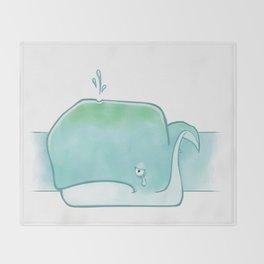 Sad sad whale Throw Blanket