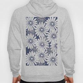 Summer Flowers Dark Blue Hoody
