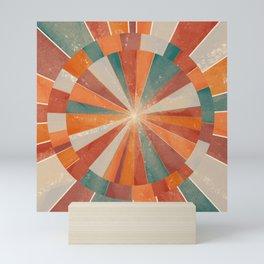 sunset faded compass 1/4 Mini Art Print
