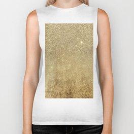 Girly Glamorous Gold Foil and Glitter Mesh Biker Tank