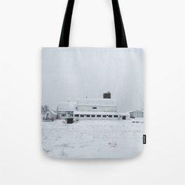 White Barn in Winter Tote Bag