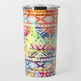 Bright ethnic pattern. Geometric striped background. Tribal motifs. Spot colors Travel Mug