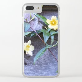 petite yellow flowers Clear iPhone Case