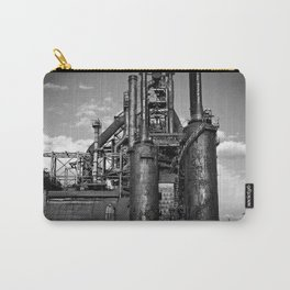Black and White Bethlehem Steel Blast Furnace Carry-All Pouch