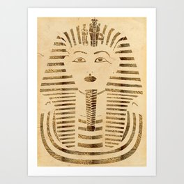 King Tut Version 2 Art Print