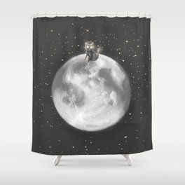 Lost in a Space / Moonelsh Shower Curtain