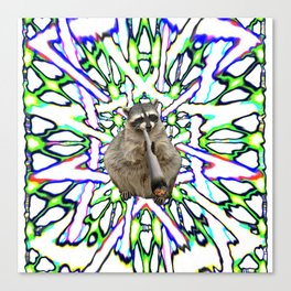 Raccoon Spliff Canvas Print