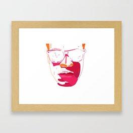 Zebra_Katz ANALOG zine Framed Art Print