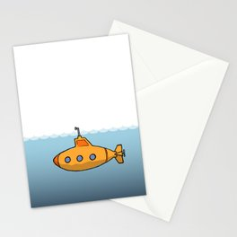 A submarine for exploring Stationery Cards