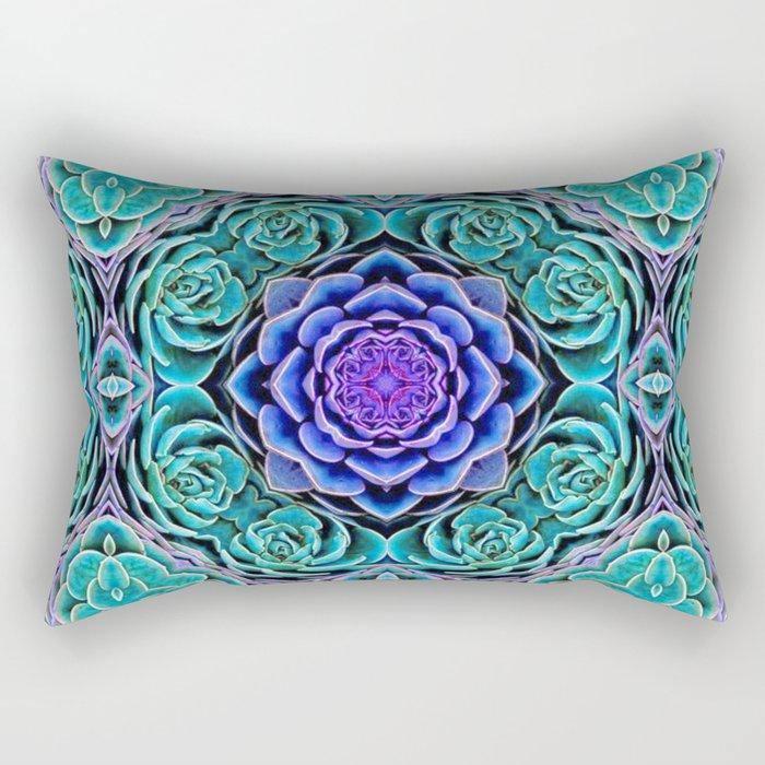 Echeveria Bliss Rectangular Pillow