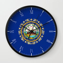 New Hampshire State Flag Wall Clock