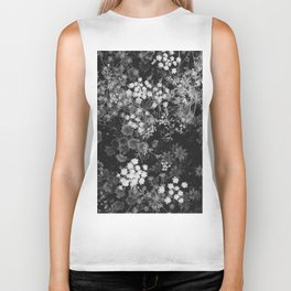 The Flowers (Black and White) Biker Tank