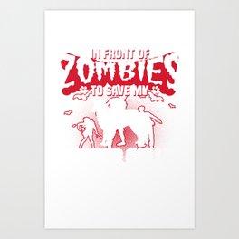 Save My Border Collie Halloween Funny Gift Shirt Art Print