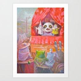 Panda and his Stories Art Print
