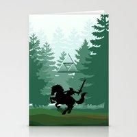 the legend of zelda Stationery Cards featuring Legend Of Zelda by Kesen