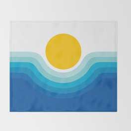 Ocean Canyon Throw Blanket