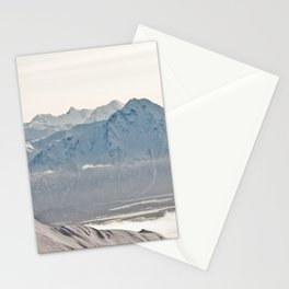 Talkeetna Mountains and Twin Peaks Stationery Cards