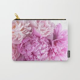 Pink Peonies Shabby Chic Cottage Peonies Carry-All Pouch