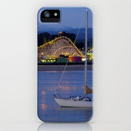 Boat at Twilight @ Santa Cruz Habor - CA iPhone Case