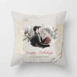 OUAT HAPPY HOLIDAYS // Captain Swan Throw Pillow