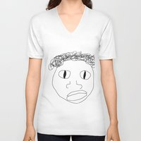stanley kubrick V-neck T-shirts featuring Stanley by Childish Gavino