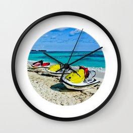 Fun time at ocean Wall Clock