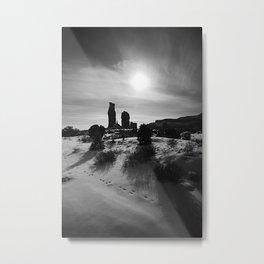 DESERT TRACKS Metal Print