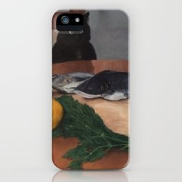 Fish and Loaves with Cat iPhone Case