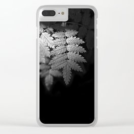 Ferns on Black Clear iPhone Case