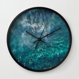 Surfing in the Ocean 2 Wall Clock