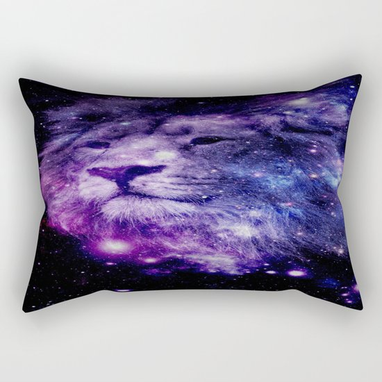 leo lion purple blue Rectangular Pillow
