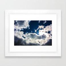 Too Blue Framed Art Print