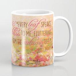 Autumn Leaves Poem Coffee Mug