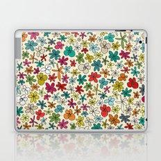 garland flowers multi Laptop & iPad Skin