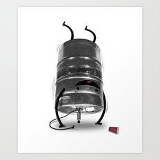 Keg Stand! Art Print