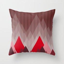 Triangular Mountain Range Throw Pillow