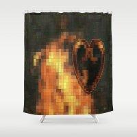 gem Shower Curtains featuring Gem by Maria Julia Bastias