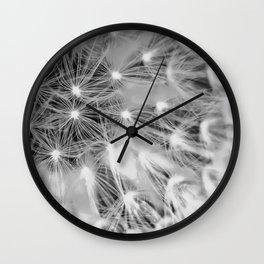 Dandelion Minimalist, Poster Dandelion, Wall Art, Flower, Art Black White, Floral Print, Wall Clock