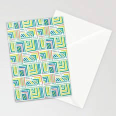 Geometric Color Stationery Cards