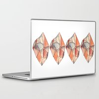 crystal Laptop & iPad Skins featuring Crystal  by Matt Smith