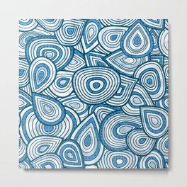 Blue Groove Thang Metal Print