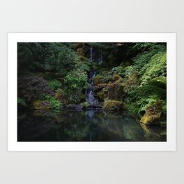 Garden Falls Art Print