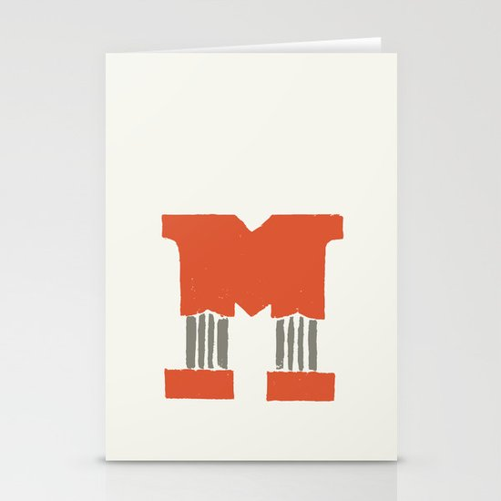 M Lettering Stationery Cards