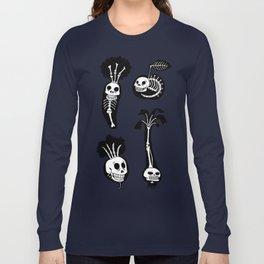 X-rays vegetables (black background) Long Sleeve T-shirt