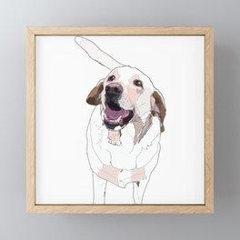 Labrador Dog (white) Framed Mini Art Print