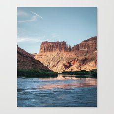 Cathedral Rocks on the River Canvas Print