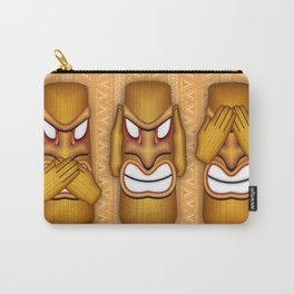 Don't See Don't Hear Don't Speak Totems Carry-All Pouch